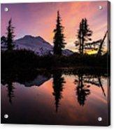 Mount Baker Sunrise Reflection Acrylic Print