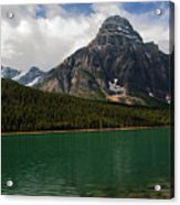 Mount Chephren From Waterfowl Lake - Banff National Park Acrylic Print