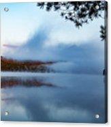 Mount Chocorua Peeks Above The Fog Acrylic Print