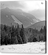 Mount Colden During Winter From Marcy Dam In The Adirondack Mountains Acrylic Print by Brendan Reals