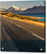Mount Cook Road Acrylic Print