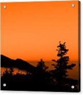 Mount Craig Above Sunset Acrylic Print