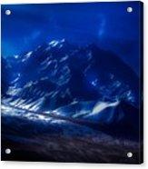 Mount Denali Moonlight Alaska Acrylic Print