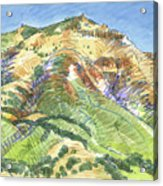Mount Diablo From Curry Valley Ridge Acrylic Print