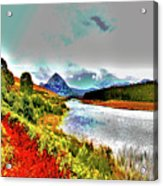 Mount Errigal, Donegal, Ireland, Poster Effect 1a Acrylic Print