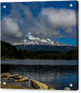 Mount Hood From Across Lake Trillium Acrylic Print