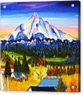 Mount Hood River Valley #1. Acrylic Print