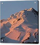 Mount Hood Sunset Glow Acrylic Print