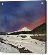 Mount Hood Winter Wonderland Acrylic Print