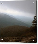 Mount Horrid Cliff Storm Acrylic Print