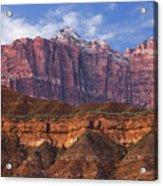 Mount Kinesava In Zion National Park Acrylic Print