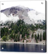 Mount Lassen Volcano In The Clouds Acrylic Print