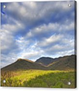 Mount Leconte In Great Smoky Mountains National Park Tennessee Acrylic Print by Brendan Reals