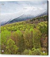 Mount Mansfield Spring Snow Acrylic Print