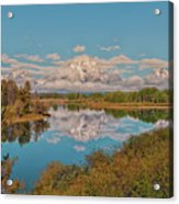 Mount Moran On Oxbow Bend Acrylic Print by Brian Harig