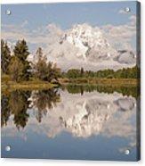 Mount Moran On Oxbow Bend Panorama Acrylic Print