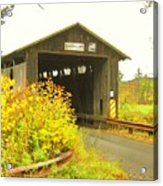 Mount Orne Covered Bridge Acrylic Print