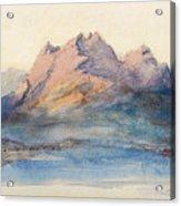 Mount Pilatus From Lake Lucerne, Switzerland Acrylic Print
