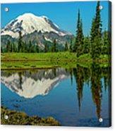 Majestic Reflection - Mount Rainier - 2 Acrylic Print