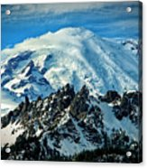 Early Snow - Mount Rainier  Acrylic Print