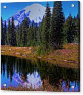 Mount Rainier And Tipsoo Lake Acrylic Print