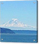 Mount Rainier From Puget Sound Acrylic Print