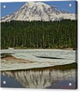 Mount Rainier Reflection Lake Acrylic Print