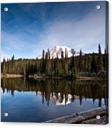 Mount Rainier Reflection Acrylic Print