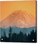 Mount Rainier, Sunset Acrylic Print