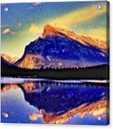 Mount Rundle Reflection Acrylic Print