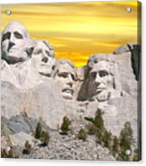 Mount Rushmore 11 Digital Art Acrylic Print