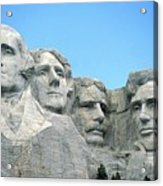 Mount Rushmore Acrylic Print by American School