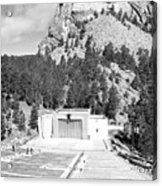 Mount Rushmore National Monument Amphitheater South Dakota Black And White Acrylic Print