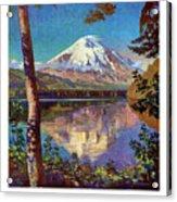 Mount Saint Helens Vintage Travel Poster Restored Acrylic Print