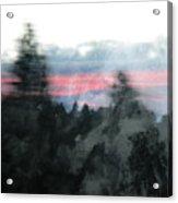 Mount Shasta Forest Sunrise Acrylic Print