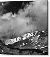 Mount Shasta In Black And White Acrylic Print