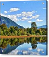 Mount Si Overlooks Mill Pond Acrylic Print