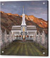 Mount Timpanogos Temple Acrylic Print