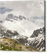 Mount Viso In The Clouds Acrylic Print