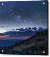 Mount Washington Summit Milky Way Panorama Acrylic Print