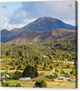 Mount Zeehan Valley Town. West Tasmania Australia Acrylic Print