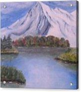 Mountain And Lake Acrylic Print
