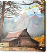 Mountain Barn Acrylic Print