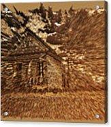 Mountain Cabin  Acrylic Print