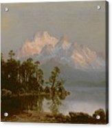Mountain Canoeing Acrylic Print