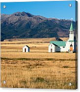 Mountain Chapel Acrylic Print