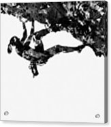 Mountain Climber-black Acrylic Print
