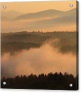 Mountain Dawn Fog Acrylic Print