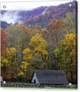 Mountain Farm Acrylic Print