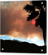 Mountain Fire Sunset Acrylic Print